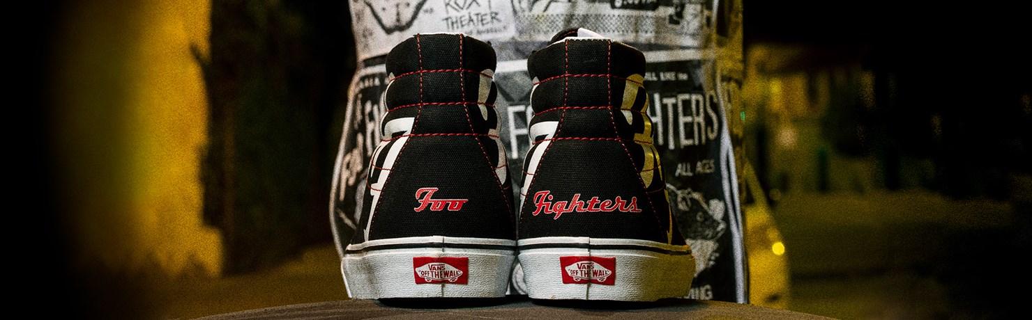 Tênis Vans Foo Fighters Coleção Limitada Sk8-Hi