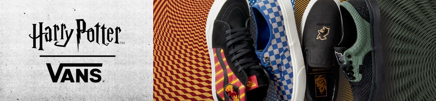 Vans Coleção Harry Potter Tênis Mochilas Bonés Camisetas