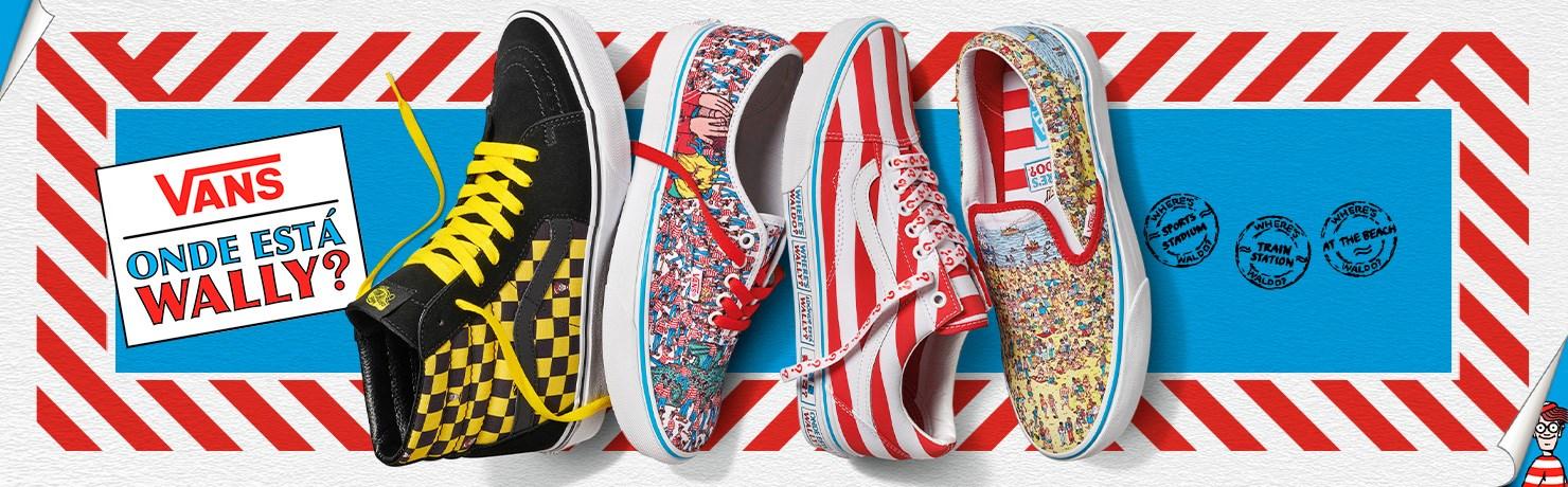Vans Wheres Waldo Coleção Onde Está Wally Tênis