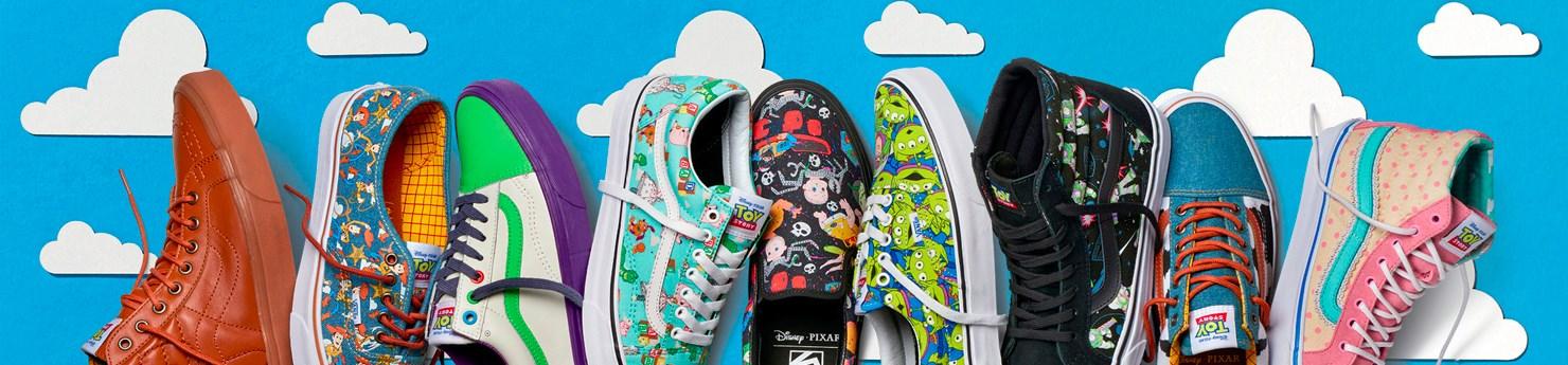Tênis Vans x Disney Pixar - Coleção Toy Story
