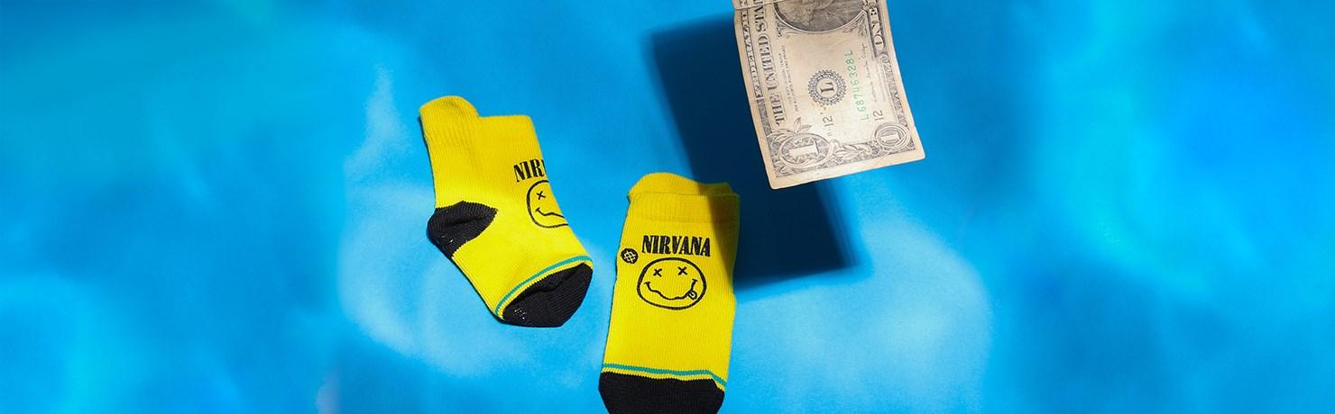 Meias Stance Nirvana Banda Rock Grunge LV41