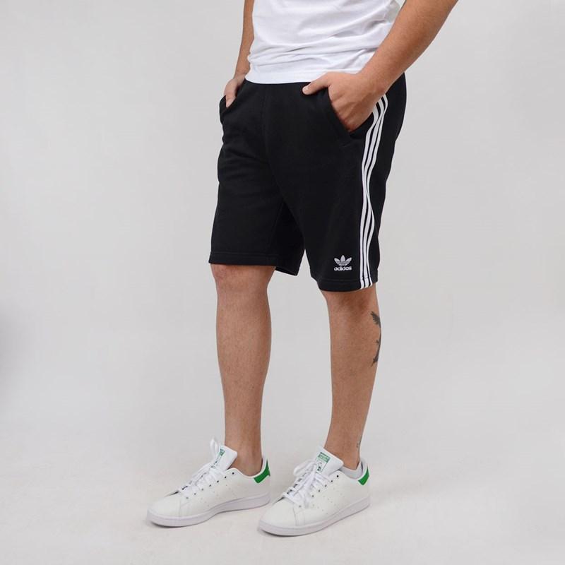 Bermuda Adidas Masculina 3 Stripes Short Black DH5798