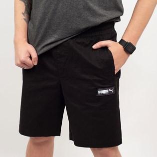 Bermuda Puma Masculina Algodão Fusion Twill Shorts 8 Preto 85409601