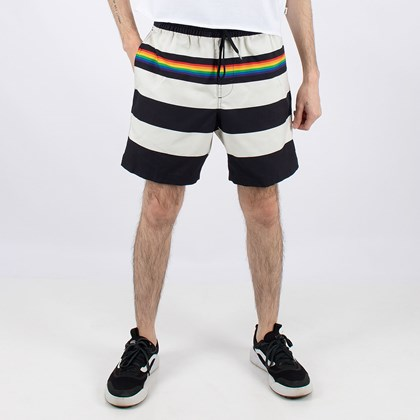 Bermuda Vans Pride Collection Stripe 17 Volley Black Rainbow VN0A5EAW24S