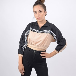 Blusa Adidas Feminina Cropped Sweat Ashpea Black ED7426 Ashpea Black