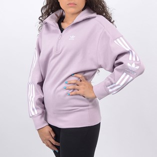 Blusa Adidas Feminina Lock Up Sweat Lilás ED7529