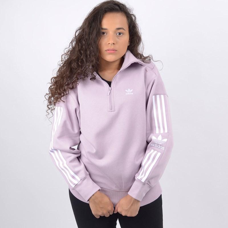 Blusa Adidas Feminina Lock Up Sweat Lilás ED7529