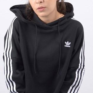 Blusa Adidas Feminino Cropped Hood Preto ED7554