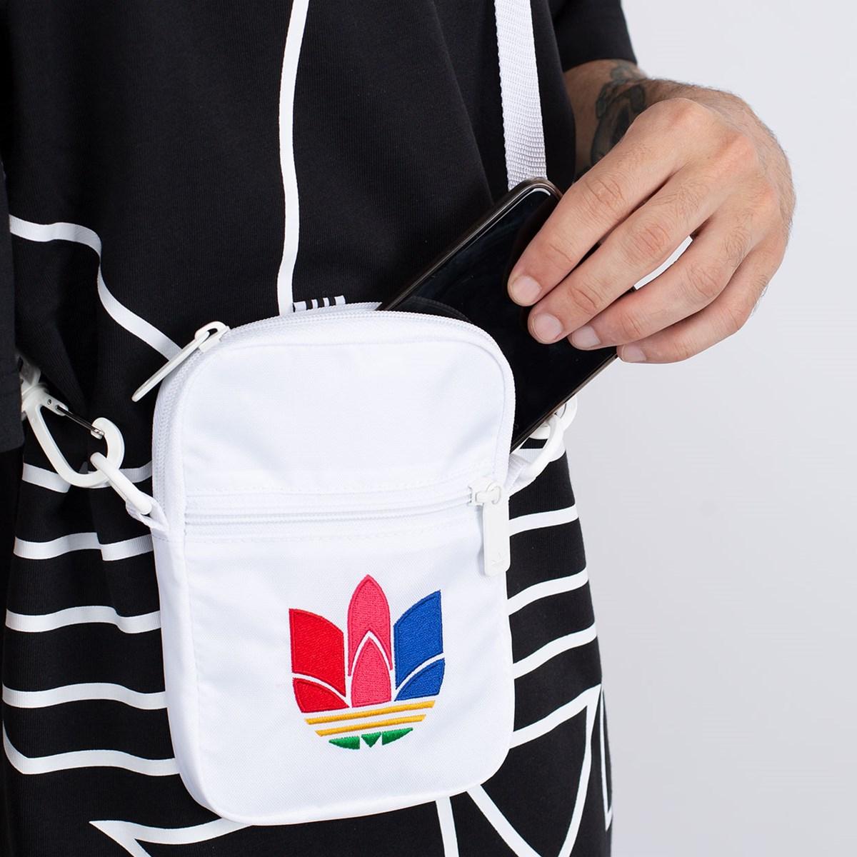 Bolsa adidas Festival Bag Trefoil White Green GD4741