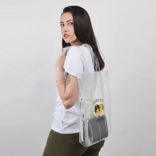Bolsa Adidas Fiorucci Shopper Transparente ED5892