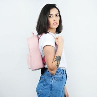 Bolsa Mochila Sweet Chic Holanda Básica Rosa Claro 5283