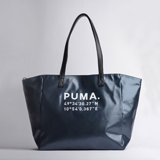 Bolsa Puma Prime Time Large Shopper Black Gunmetal 07659601