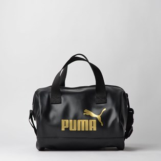 Bolsa Puma WMN Core Up Handbag Preto Ouro 07657901