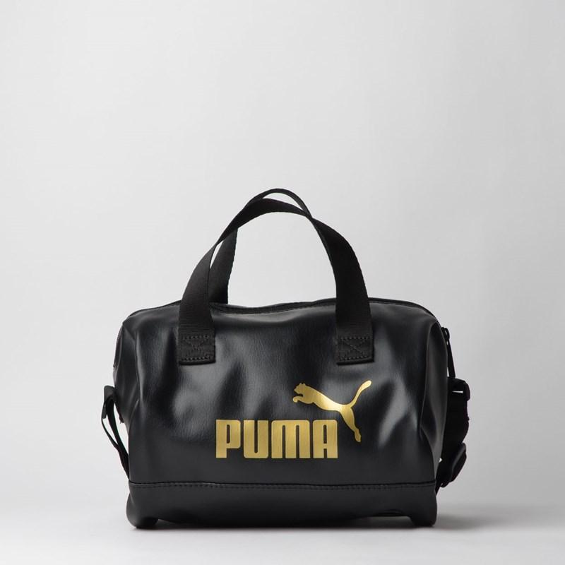 Bolsa Puma WMN Core Up Handbag Preto Ouro 07657901