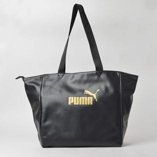 Bolsa Puma WMN Core Up Large Shopper Preto Ouro 07657801