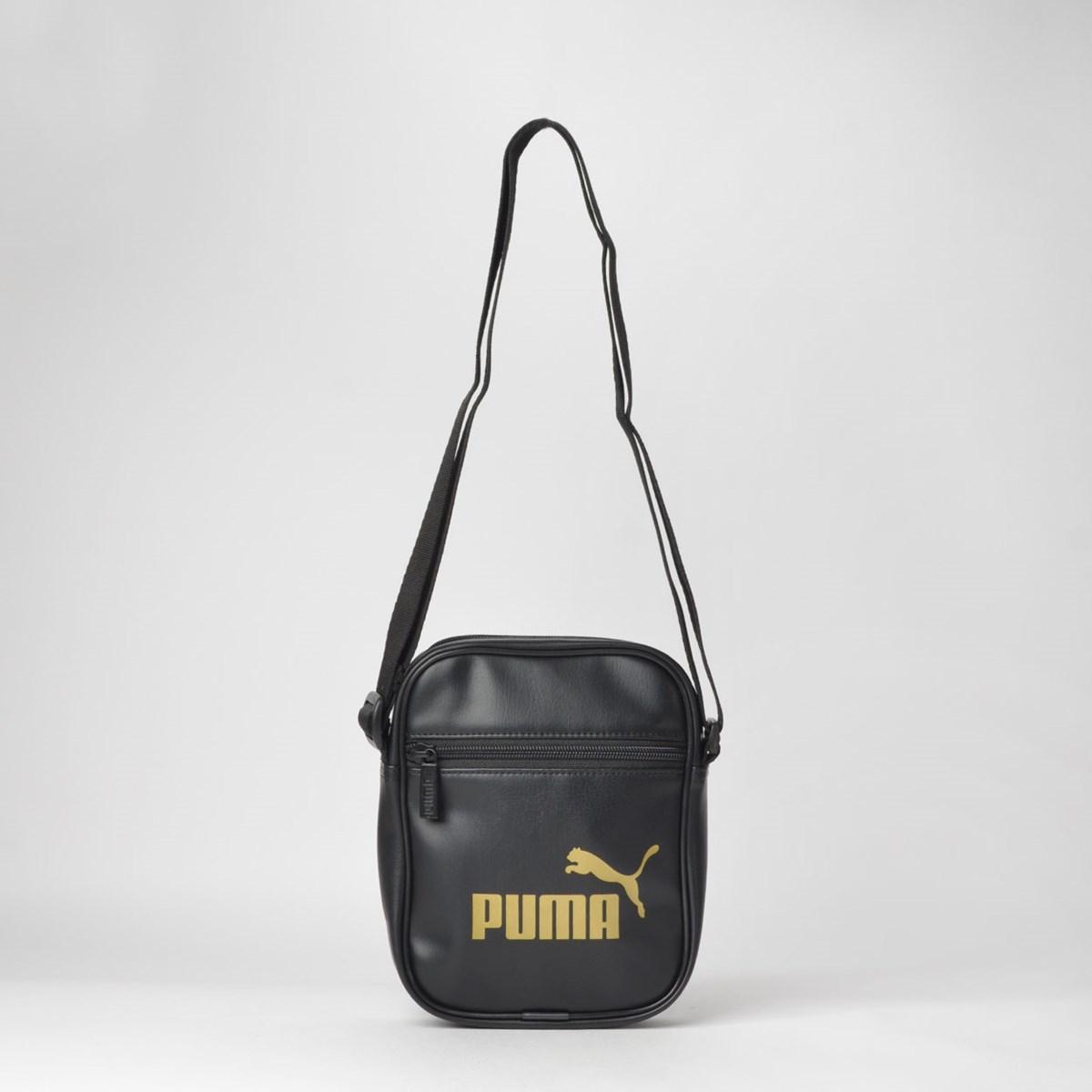 Bolsa Puma WMN Core Up Portable Black Gold 07673601