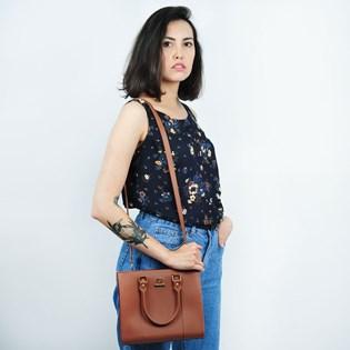 Bolsa Sweet Chic Cairo Básica Marrom 4872