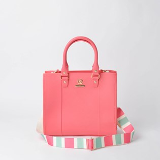 Bolsa Sweet Chic Cairo Color Block Coral 5152