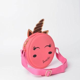 Bolsa Sweet Chic Kids Redonda Quebek Unicórnio Coral 4884