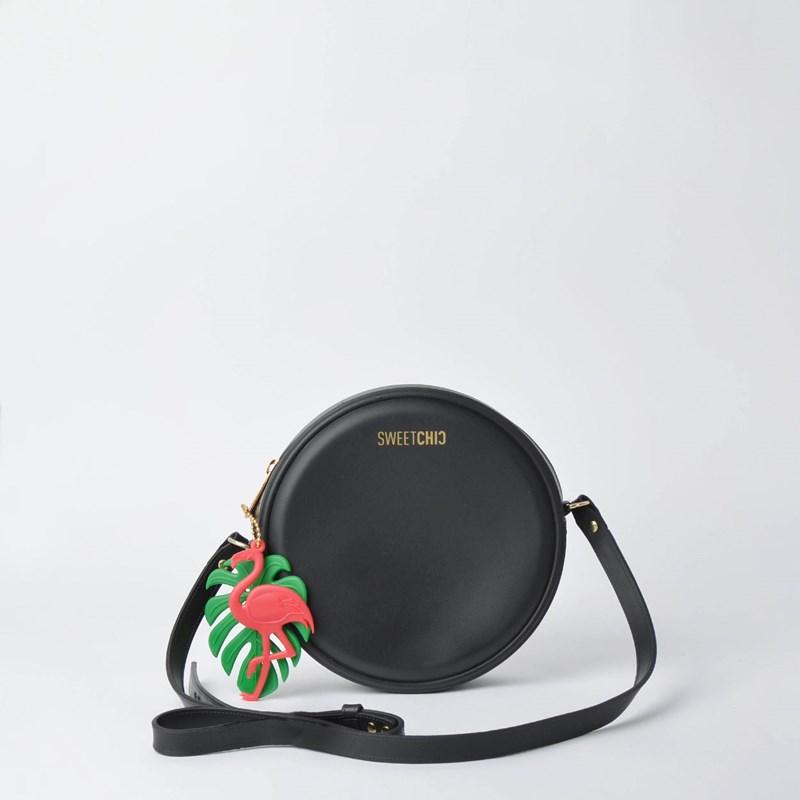 Bolsa Sweet Chic Redonda Quebek Preto 5350 com Chaveiro