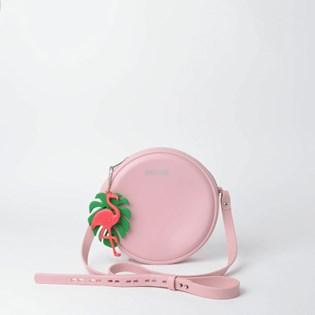 Bolsa Sweet Chic Redonda Quebek Rosa Claro 5350 com Chaveiro