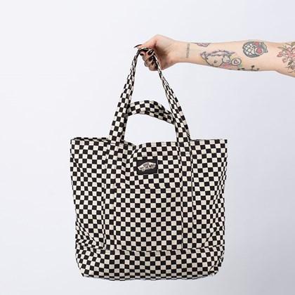 Bolsa Vans Tell All Zip Tote Checkerboard VN0A5I1K705