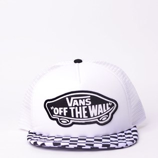 Boné Vans Beach Girl Trucker Hat Checkerboard Black White VN000H5L56M