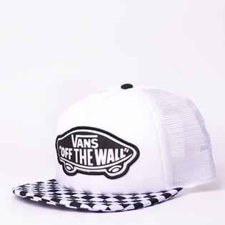 Boné Vans Beach Girl Trucker Hat Checkerboard Black White VN000H5L56M ... 6109ee40054