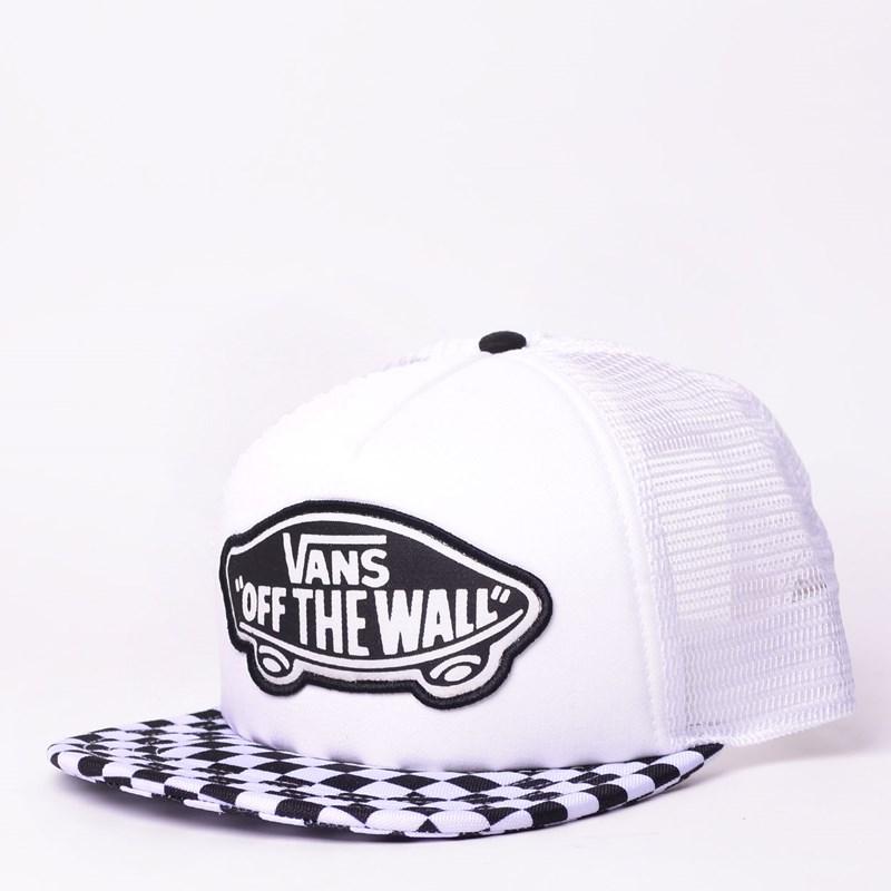 0794e803a3 Boné Vans Beach Girl Trucker Hat Checkerboard Black White VN000H5L56M
