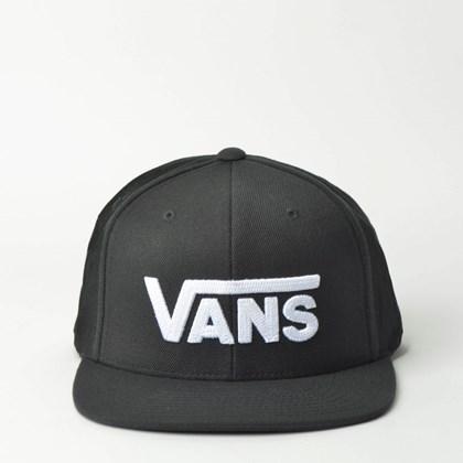 Boné Vans Drop V II Snapback Black White VN0A36ORY28