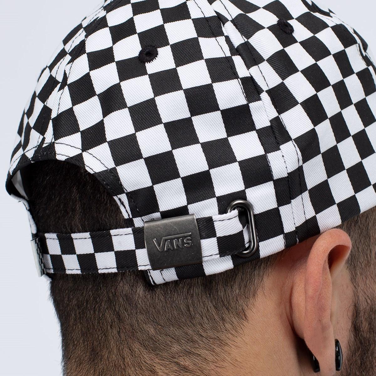 Boné Vans Low Rider Hat Black White Checkerboard VN0A4OVQ56M