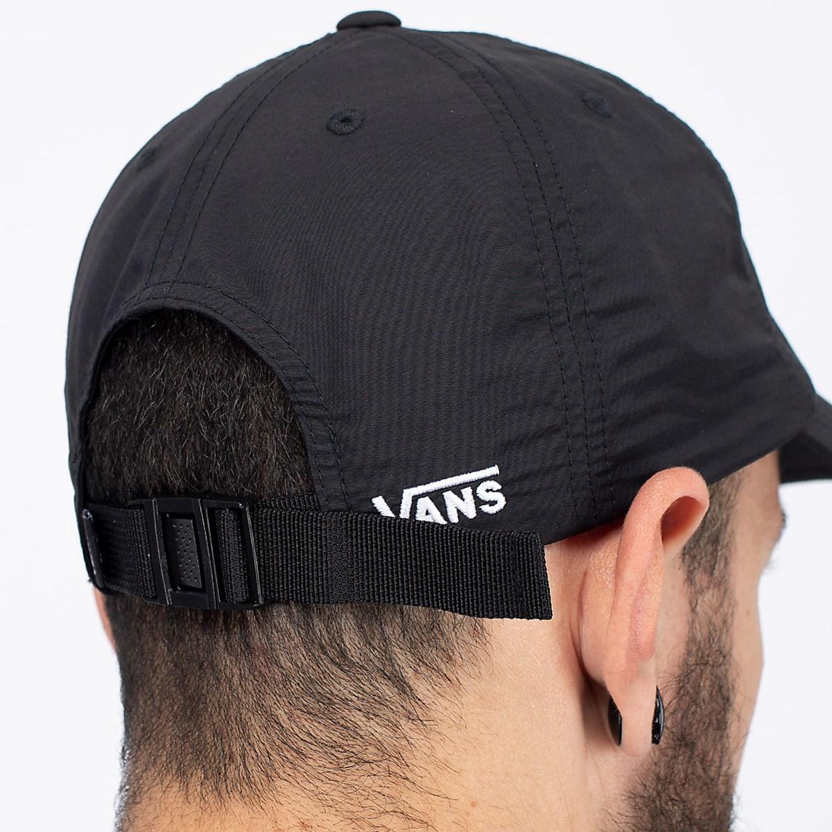 Boné Vans Nylon Court Side Hat Black VN0A5DPBBLK
