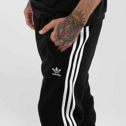 Calça adidas Adicolor Classics 3 Stripes Black GN3458