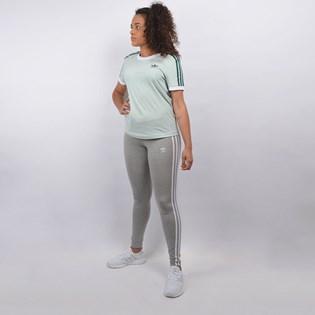 Calça Adidas Feminina 3 STR Tight Cinza Claro CY4761
