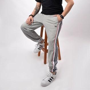 Calça Adidas Masculina 3 Stripe Panel Medium Grey Heather ED6258