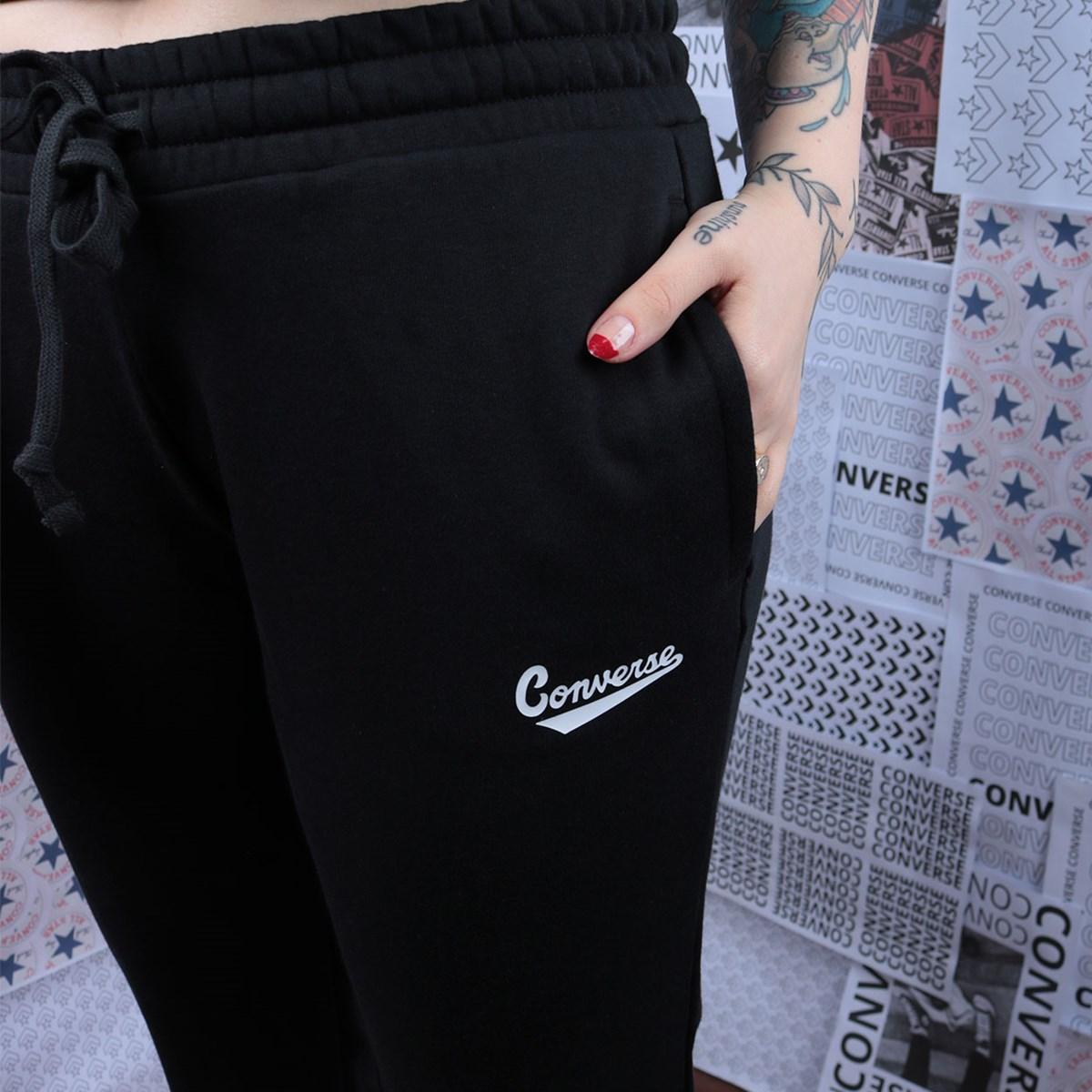 Calça Converse Moletom SC Nova Pant Black 10017714-A01