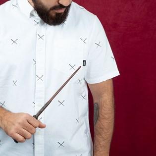 Camisa Vans Masculina Harry Potter Houser SS SpelLS White VN0000MYSP7