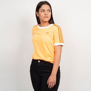 Camiseta Adidas 3 Stripes Laranja ED7475