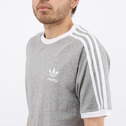 Camiseta Adidas Adicolor Classics 3 Stripes Medium Grey Heather GN3493