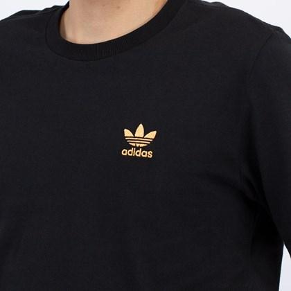 Camiseta adidas Adicolor Essentials Trefoil Black Haze Orange GN3406