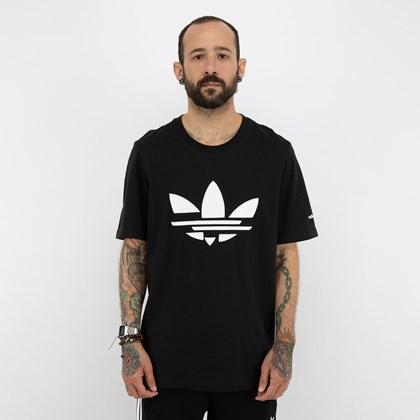Camiseta adidas Adicolor Trefoil Shattered Black White H35647