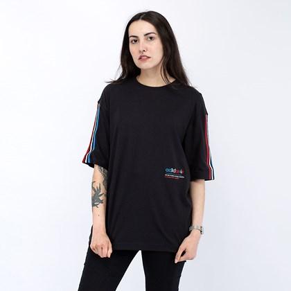 Camiseta adidas Adicolor Tricolor Oversize Black GN2839