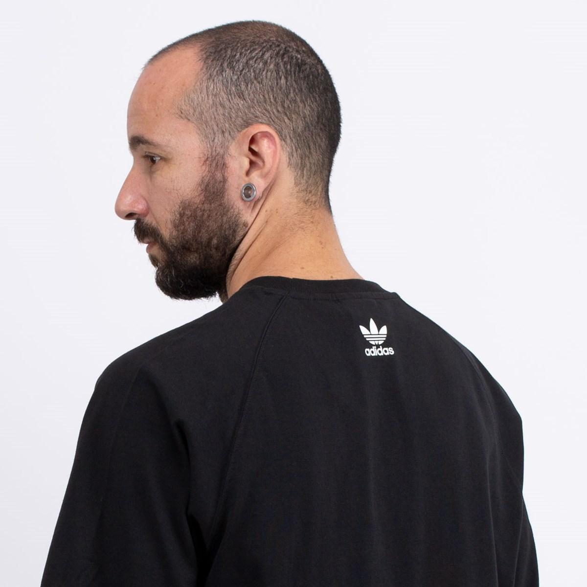 Camiseta adidas Big Trefoil Blocked Black White GE6229
