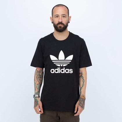 Camiseta Adidas Classics Trefoil Black White H06642