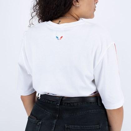 Camiseta adidas Cropped Adicolor Primeblue Tricolor White GN6979