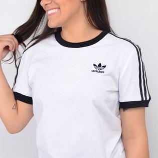 Camiseta Adidas Feminina 3 Stripes Branco ED7483