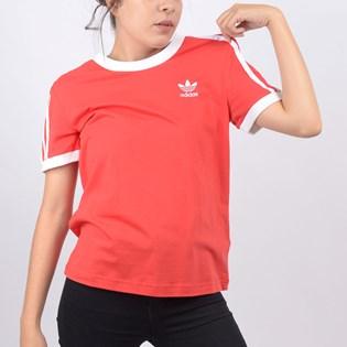 Camiseta Adidas Feminina 3 Stripes Tee Lush Red FM3318