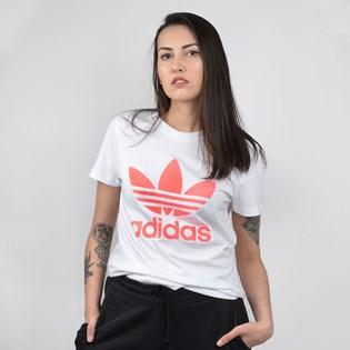 Camiseta Adidas Feminina Trefoil Branco ED6937
