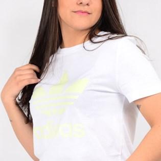Camiseta Adidas Feminina Trefoil Tee Branco FJ9456