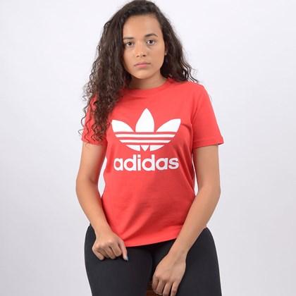 Camiseta Adidas Feminina Trefoil Tee Lush Red FM3302